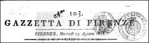 Gazzetta di firenze 1815