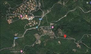 Il Castelluccio e Gualda. Da Google Map.
